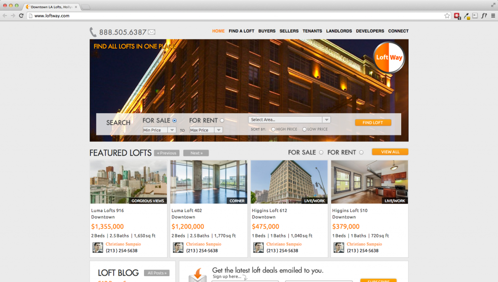 Wordpress Real Estate Website — Loftway