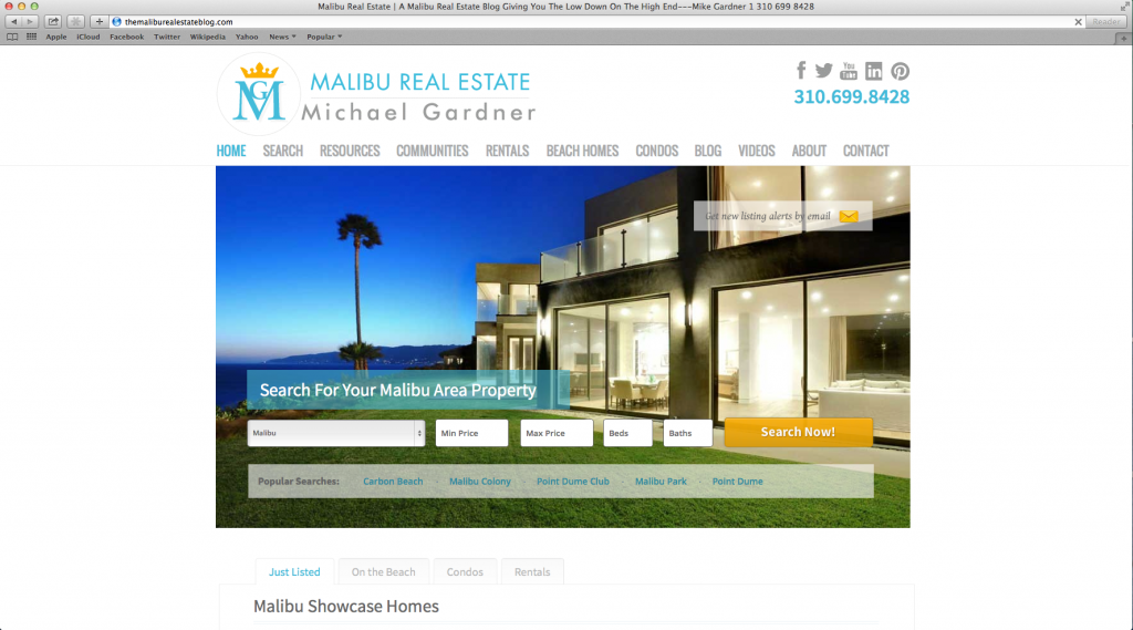 Wordpress Website Design — MalibuRealEstate